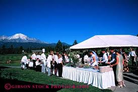 released outdoor wedding buffet table mount shasta california