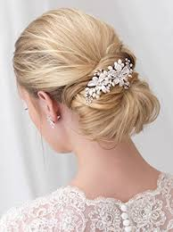 bridal hair combs side bridal comb wedding hairpiece with flowers