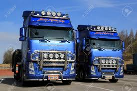 2014 volvo truck salo finland april 18 2014 two beautifully customized volvo