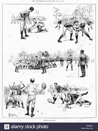 football sketches 1887 victorian engravings by forester of scenes