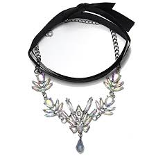 black choker collar necklace images Qiaose black ribbon with crystal choker collar necklace jewelry jpg
