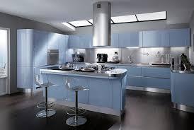 les plus cuisine moderne cuisine moderne bleue scavolini tess bleu et gris acier les