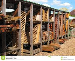 wooden trellis or fencing for sale stock photo image 41522512