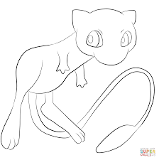 pokemon mew coloring page free printable coloring pages