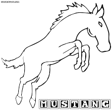 mustang horse coloring pages coloring pages to download and print