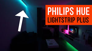philips hue light strip behind tv philips hue lightstrip plus livingroom light ideas youtube