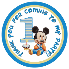 mickey mouse 1st birthday baby mickey mouse 1st birthday gift tags partyexpressinvitations