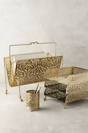 Wood Desk Organizers And Accessories by A Touch Of Glamor At The Workplace Gold Desk Accessories