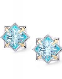 blue stud earrings natalie wood designs runaway stud earrings silver blue