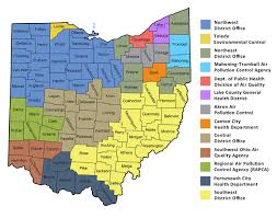 Map Of Pike County Ohio by Ohio Epa District Offices And Local Air Pollution Control Agencies