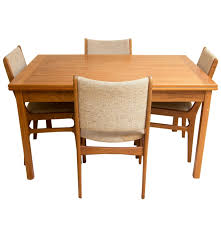 Modern Teak Outdoor Furniture by Danish Modern Teak Chairs By D Scan With Dining Table Ebth