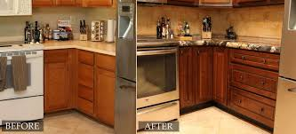 Stain Kitchen Cabinets Before And After Refinished Kitchen Cabinets Before And After Kitchen Cabinet Ideas
