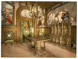 Neuschwanstein Castle Germany Interior File Pictures Of The Tannhauser Story Arbeitszimmer