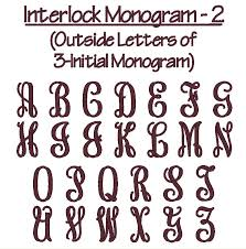 3 initial monogram fonts monogram font interlock show to megan fonts
