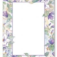 floral vines blank card invitation