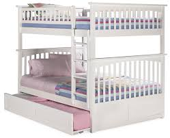 Trundle Bed Amazon Com Columbia Bunk Bed With Trundle Bed Twin Over Full