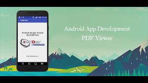 tutorial android pdf android studio tutorial pdf viewer youtube