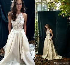 lihi hod wedding dress lihi hod 2017 ivory lace boho wedding dresses with pocket