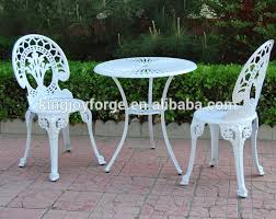 Aluminium Bistro Table And Chairs White Garden Cast Aluminium Crown Patio Bistro Sets View Bistro