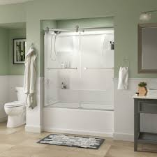 The Shower Door Half Glass Shower Door For Bathtub How To Install A On Prefab
