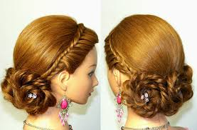 cute hairstyle for long braided updo youtube