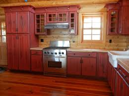 Kitchen Rustic Pine Kitchen Cabinet Ideas With Black Accents And - Rustic cherry kitchen cabinets