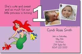 little mermaid ariel birthday invitations download jpg
