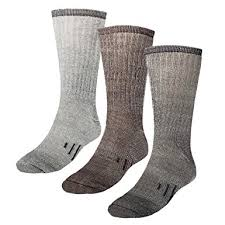 womens size 12 boot socks amazon com 3 pairs thermal 80 merino wool socks thermal hiking