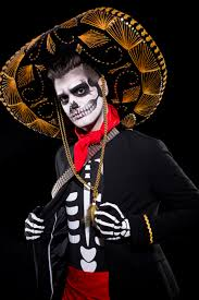 image result for sugar skull makeup half face for men sugar
