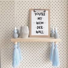 étagère murale chambre bébé bébé style nordique diy d origine perles en bois étagère murale de