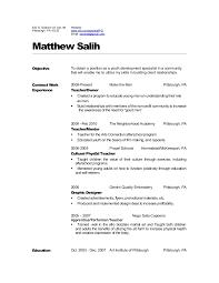 Special Education Teacher Resume Objective Teacher Resume 2010
