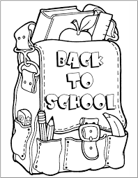 coloring page school back to school coloring page