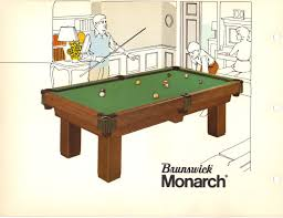brunswick monarch pool table 1970s brunswick table images azbilliards com