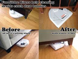 furniture lifts for sofa furniture risers help cleaning droids catch more dust bunnies