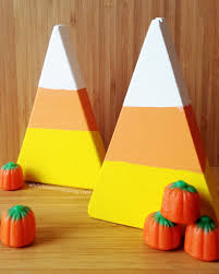wooden halloween candy corn decorations you u0027ll want to eat