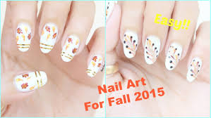 2 easy nail art for fall autumn nail art tutorial youtube
