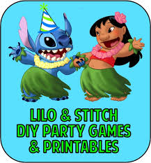 lilo stitch party games u0026 printable party supplies