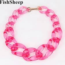 chunky chain choker necklace images 2017 new transparent color acrylic chain choker necklace plastic jpg