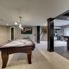 Average Basement Finishing Cost decor u0026 tips basement remodeling costs with pool table and