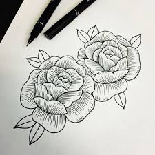 design flower rose drawing znalezione obrazy dla zapytania rose line work tattoo pinterest