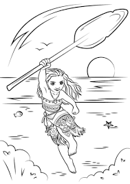 moana coloring free printable coloring pages
