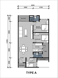 Saujana Residency Floor Plan Lavender Residence Condominium Cheras Property Malaysia