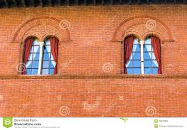 Old Castle Curtain Wall Facade Detail Of A Traditional Italian Castle Stock Photo Image