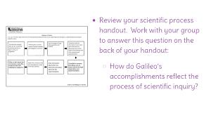 lesson 20 galileo galilei and the process of scientific inquiry