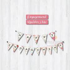 Pretty Bunting Flags Happy Engagement Bunting Flag Grins U0026 Giggles