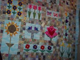 a pieced or patchwork quilt