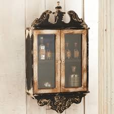 Rustic Bathroom Wall Cabinet Rustic Wall Cabinet With 2 Glass Doors Antique Farmhouse Rustic