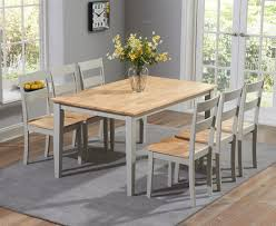 chiltern 150cm oak u0026 grey dining table set with chairs the great