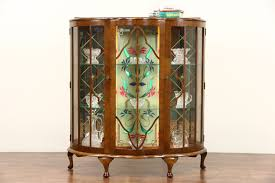 Vintage Display Cabinets Sold English Art Deco 1930 U0027s Vintage Curio Display Cabinet