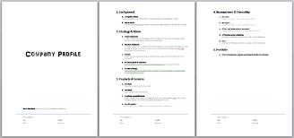 portfolio template word simple business profile template business profile template word